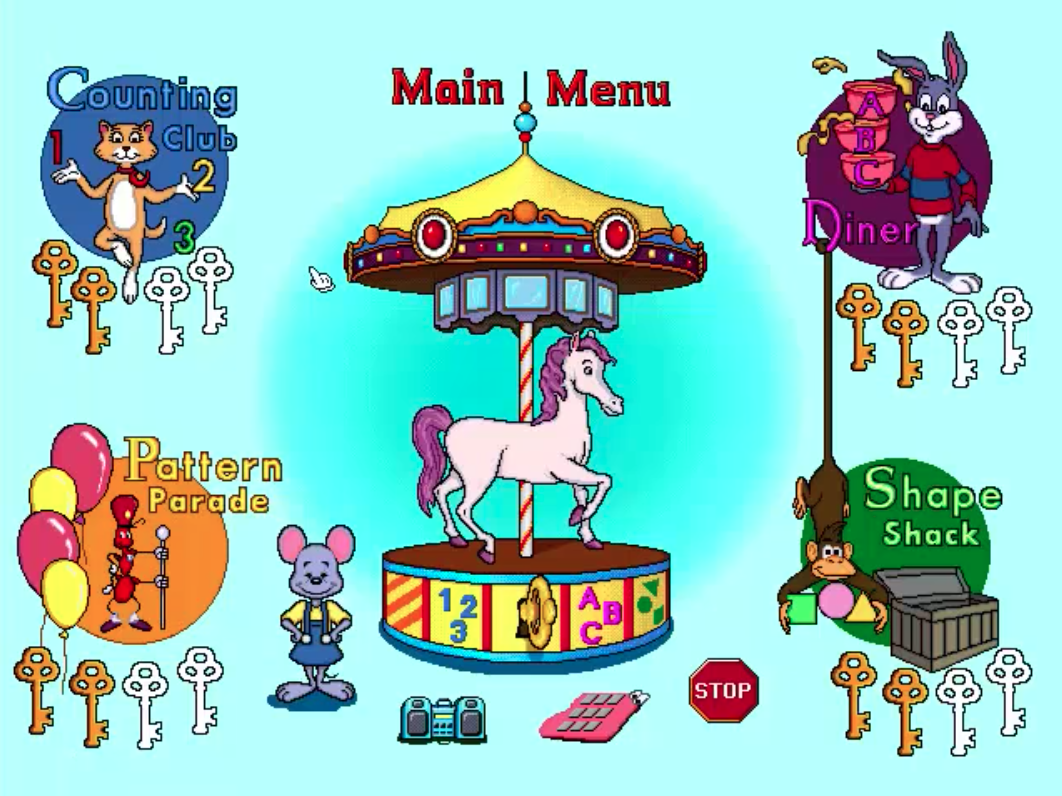 Reader Rabbit Preschool carousel Preschool, The learning