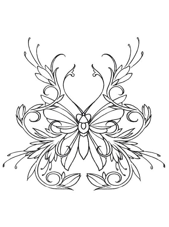 butterfly coloring book 24 printable coloring pages outlines color examples instant download butterfly coloring pages - Advanced Coloring Pages Butterfly