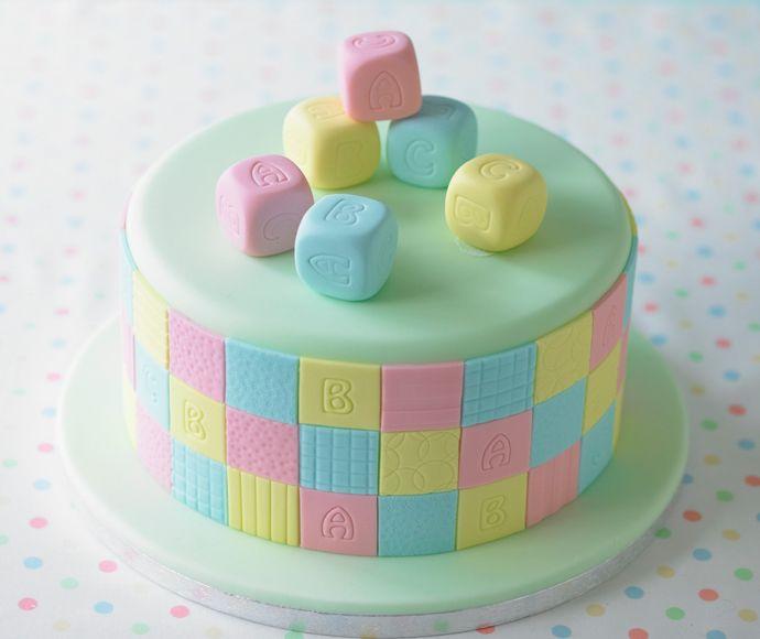 ABC Torte. #Tortendekorieren #Geburtstag #ABC #Torte # ...