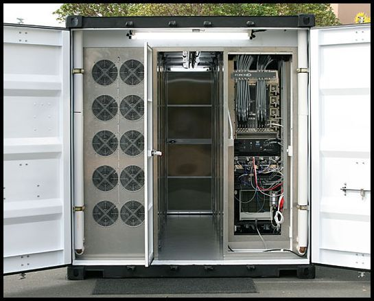 What The Inside Of A Container Data Center Looks Like Data Center Data Center Design Container