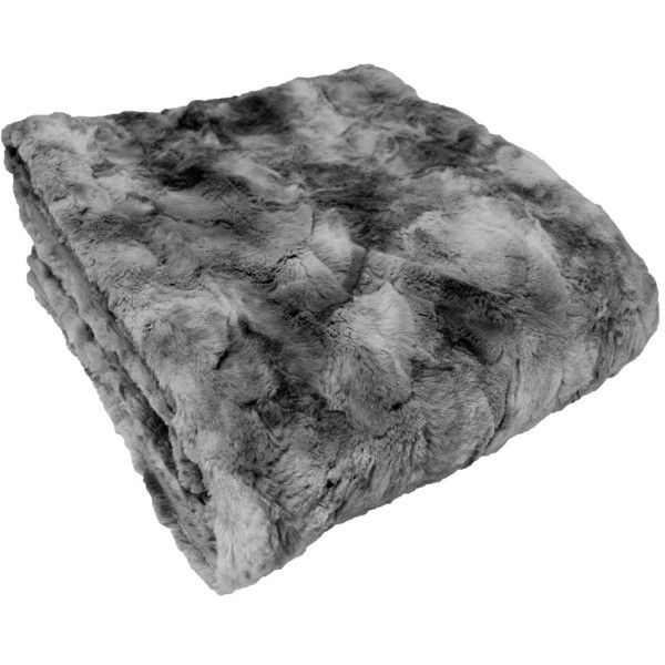 Chanasya super soft fuzzy fur warm charcol gray sherpa for Soft blankets and throws