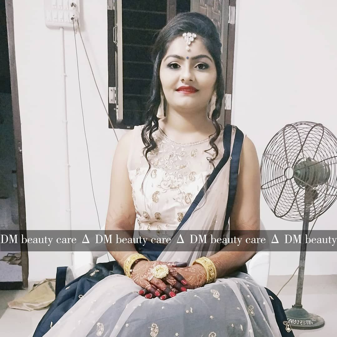 Bride Ready for her garaba night at @dm_the_beauty_care  Look : @damini_glow_star  Bride : @pateltw