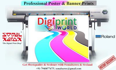 Professional Poster Prints With Sonal Xerox Roland Poster