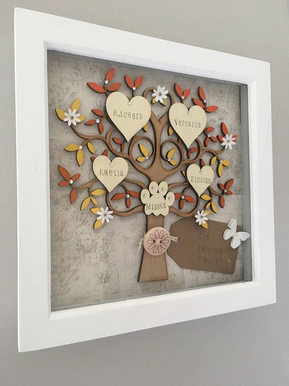 Handmade Family Tree Family Tree Frame Personalised Tree Tree
