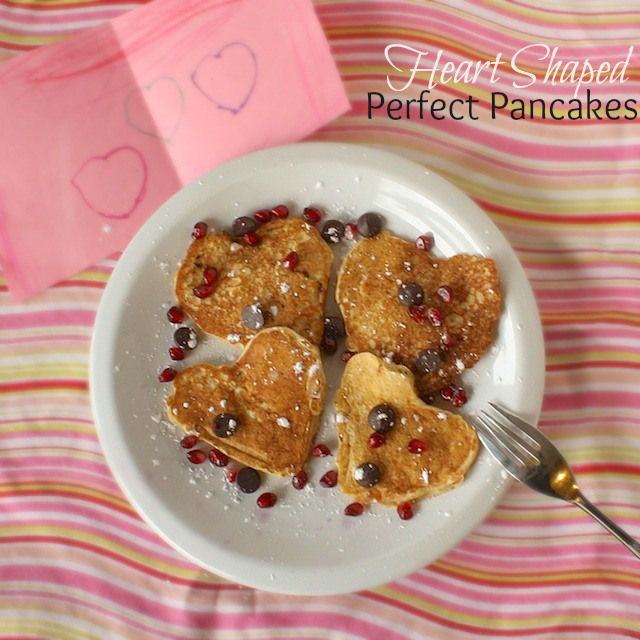 Kids in the kitchen: Heart Shaped Perfect Pancakes | Teaspoonofspice.com