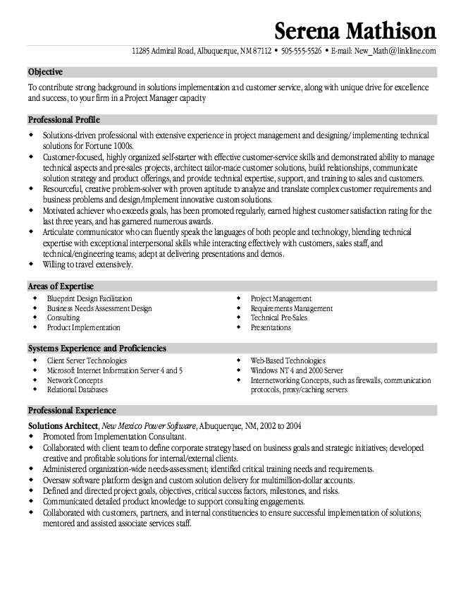 Solutions Architech Resume Sample Free Resume Sample Architect Resume Sample Sample Resume Templates Resume