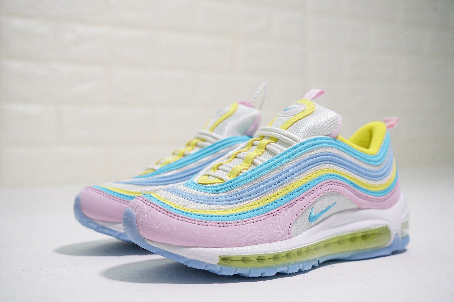 Where To Buy Women Nike Air Max 97 Pink Blue Yellow Corduroy Nike Air Max 97 Nike Air Max Air Max 97