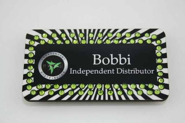 Take a look at bobbis black and white zebra print bling