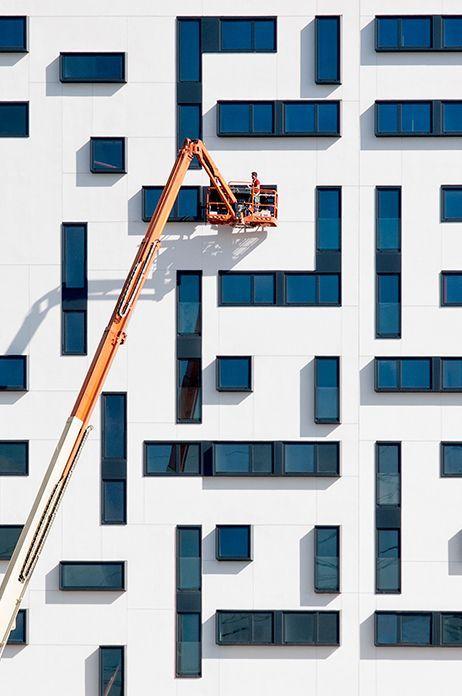 Fenestration Architecture: Tetris Grid Facade Fenestration / Grids In Architecture