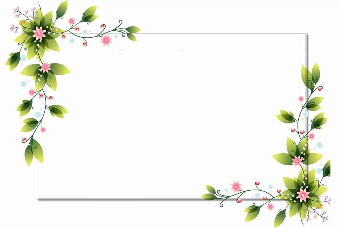 براويز صور 2020 اطارات مزخرفة للصور In 2021 Flower Border Clipart Flower Frame Flower Border