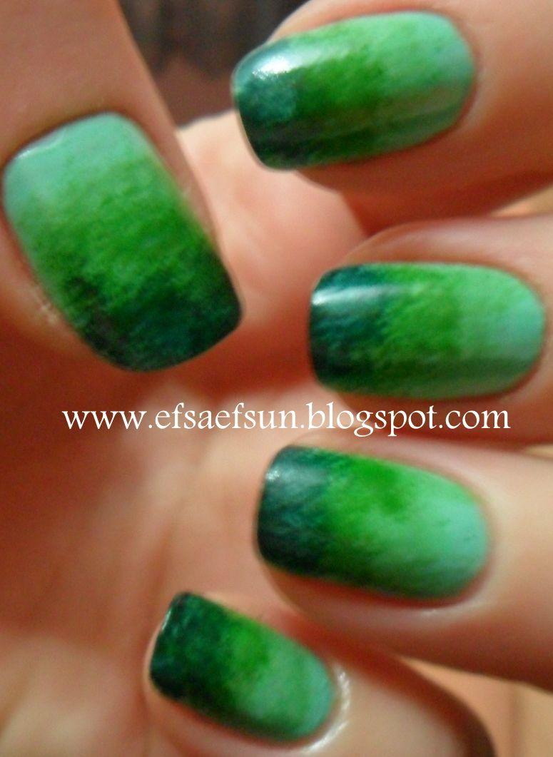 31dc2012 Day 10 Gradient Nails: Nail Arts Ve Nails