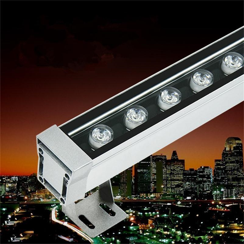 (39.00$)  Know more  - 12W 1000mm LED Wall Washer Lamp IP65 Spot Exterieur Polished Steel Buiten Lamp Outdoor Wall Floodlights 12W Luminaria de Parede