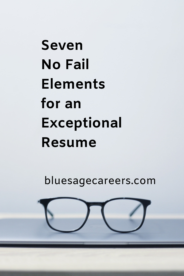 Part Three 7 Elements of an Exceptional Resume Career