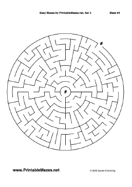 There are 10 easy mazes (one per page) in this printable ...