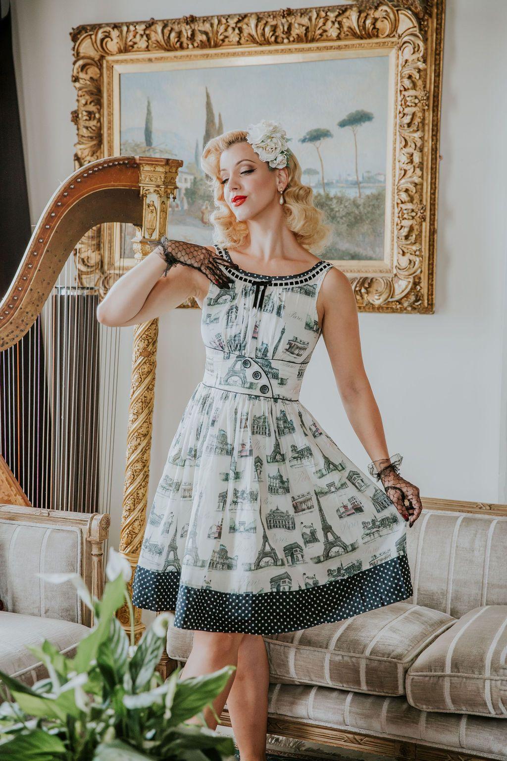 La Parisienne Day Dress Kitten D Amour Miss Victory Violet In 2020 Old Fashion Dresses Day Dresses Dresses