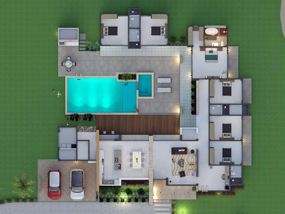 104 Me Gusta 1 Comentarios Pablo Cesar Restrepo Ramon Arquitectopablorestrepo En Instagram Pl In 2020 Home Building Design Modern House Plans Sims House Design