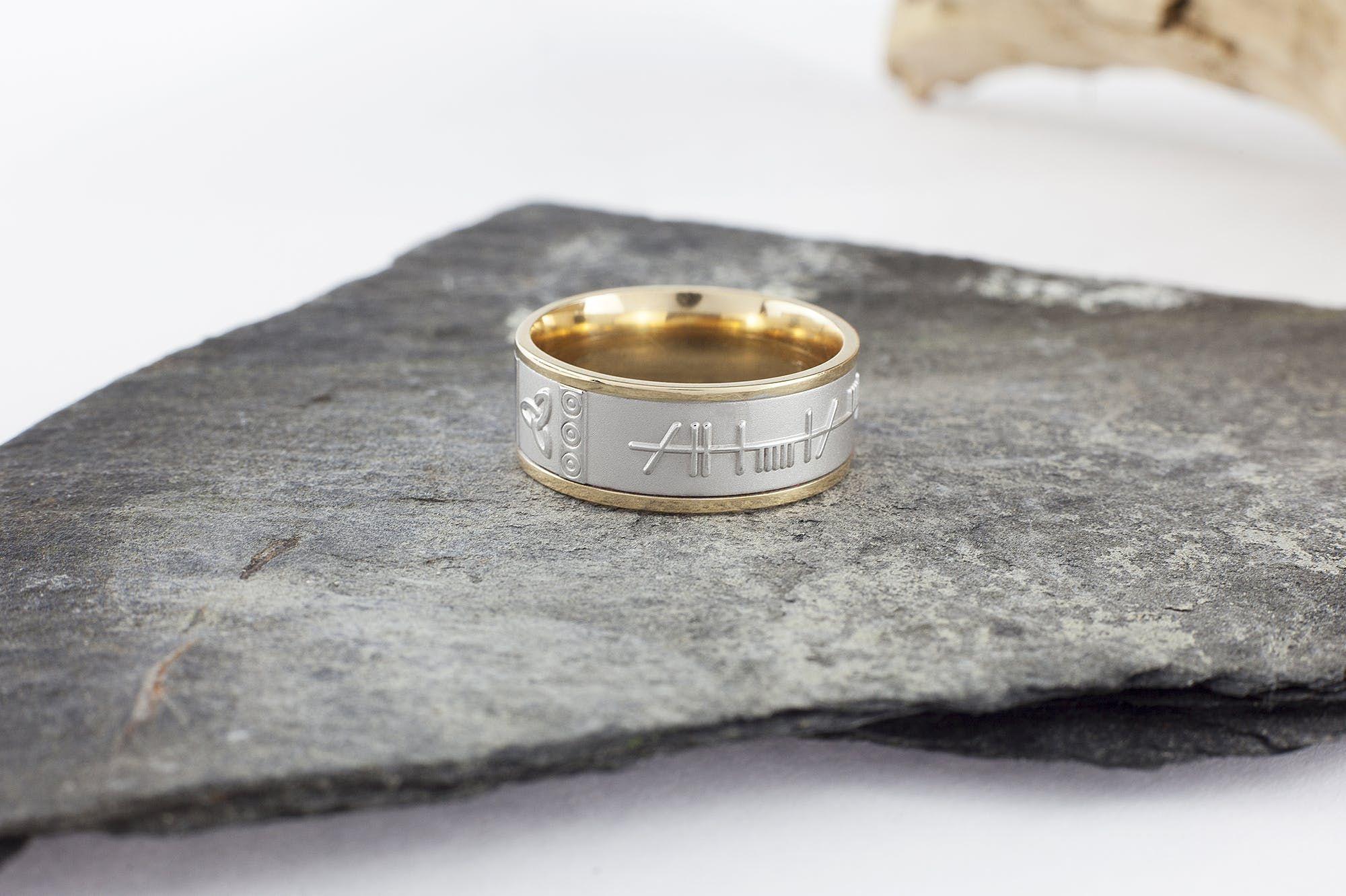 Ogham Mo Anam Cara Ring Rings, Anam cara, Rings for men