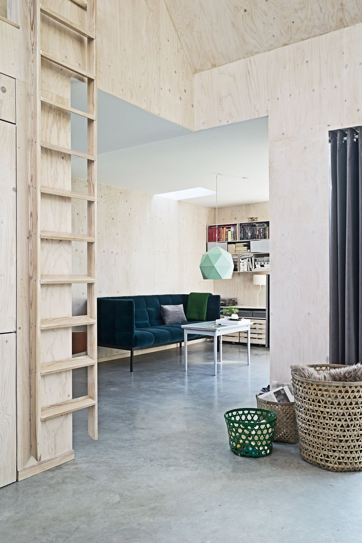 Cool kolonihave plywood osb pinterest for Innenarchitektur wohnzimmer holz