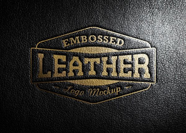 Embossed Leather Stamping Mockup Psd Template