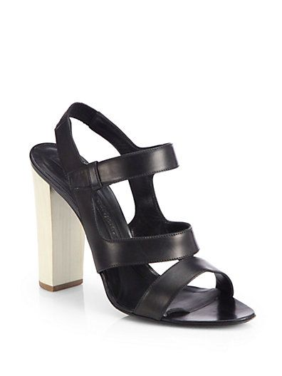 Narciso Rodriguez Leather Cage Wedge Sandals cheap low price fee shipping visa payment for sale high quality cheap price extremely outlet good selling yVQ22fc9