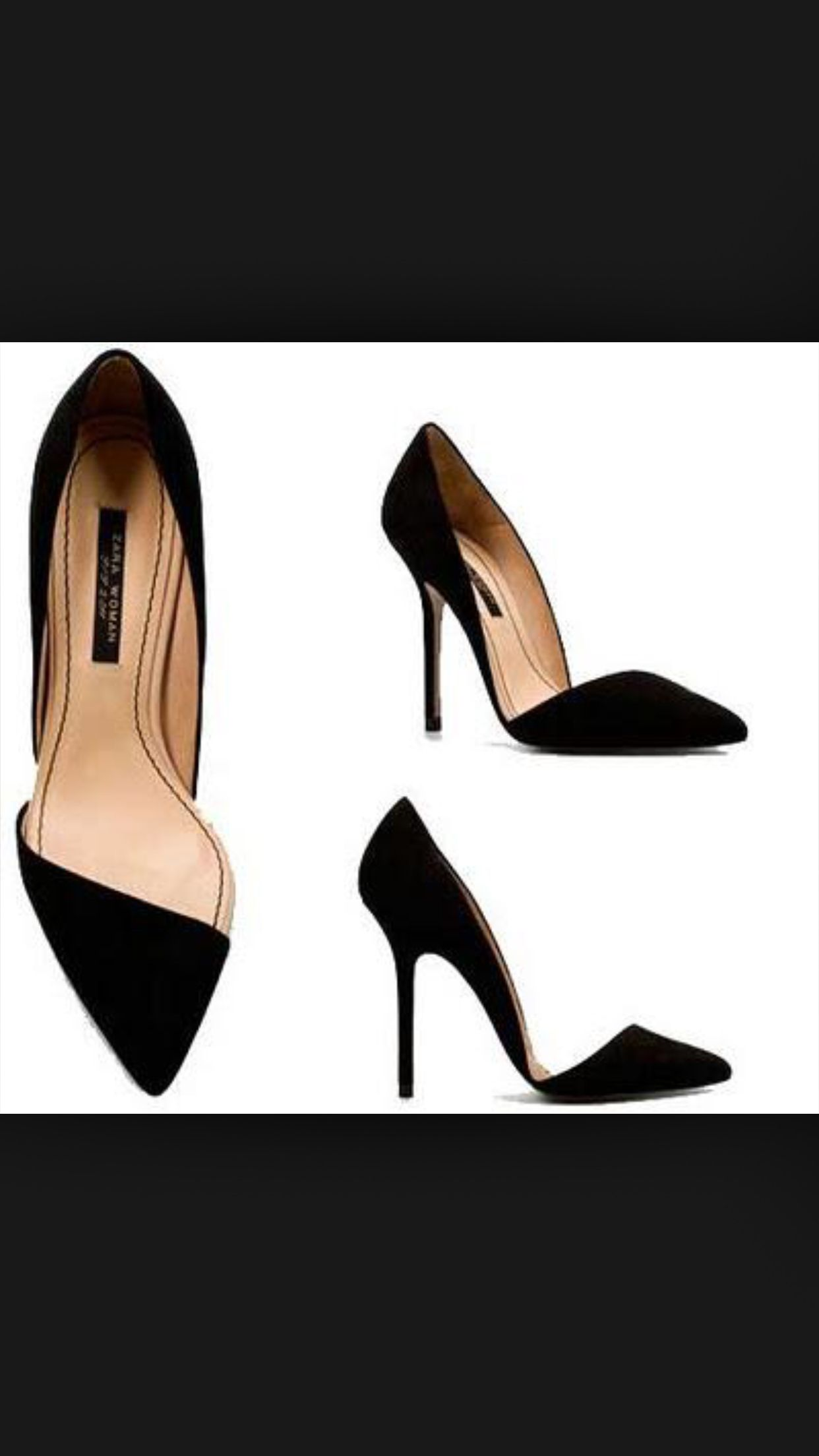 bdec833a501 Love pumps with the sides opened up  ) Black Stilettos
