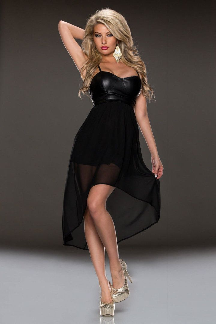 Mid calf black cocktail dresses