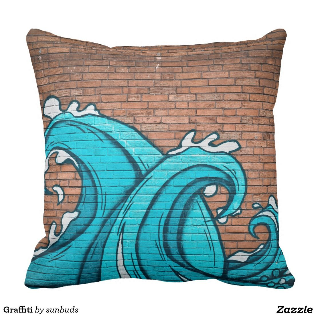 Graffiti With Images Decorative Throw Pillows