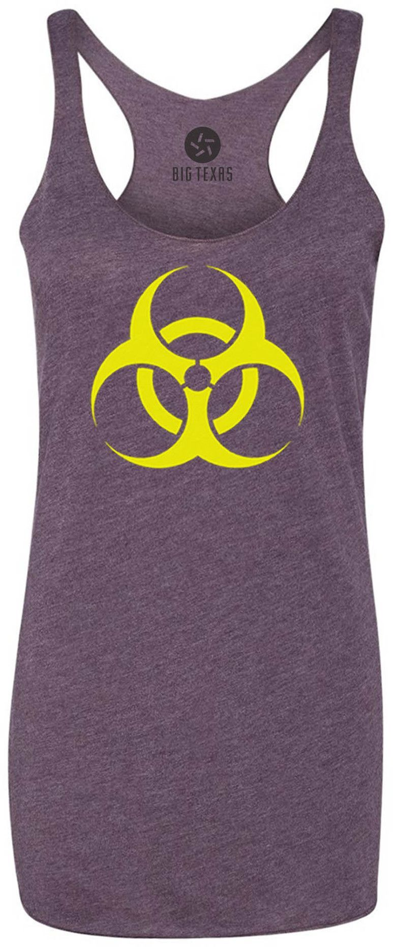 BioHazard (Yellow) Tri-Blend Racerback Tank-Top