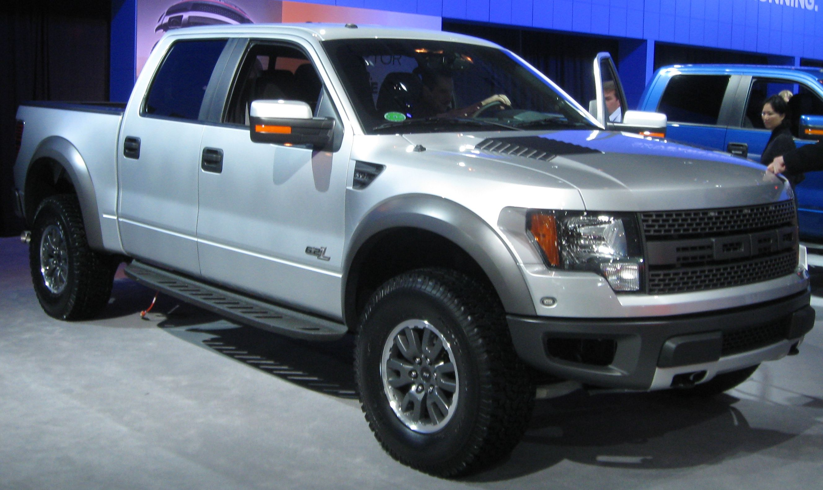 Ford raptor car and driver