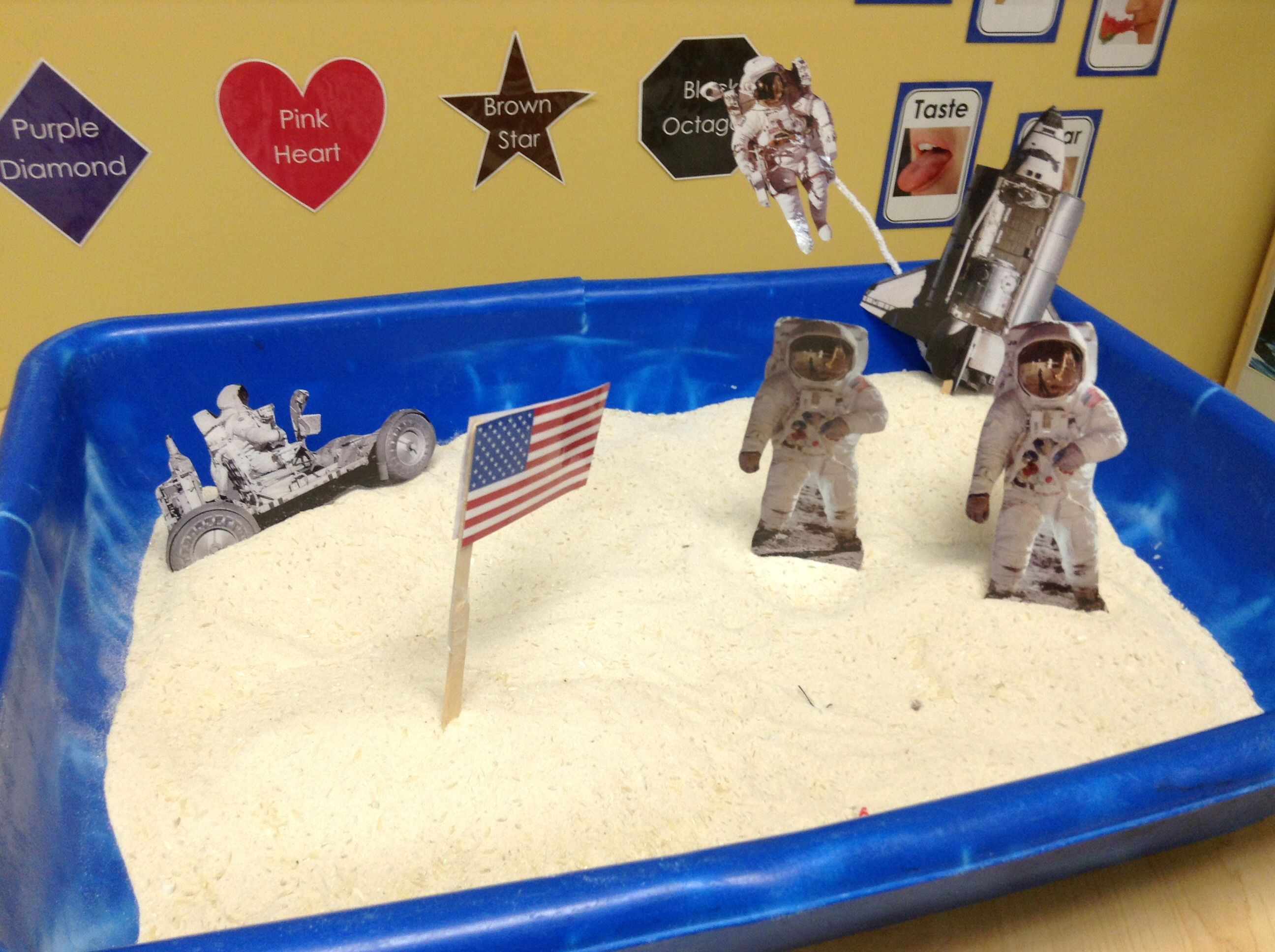 Outer Space Astronaut Themed Sensory Bin Laminated Print