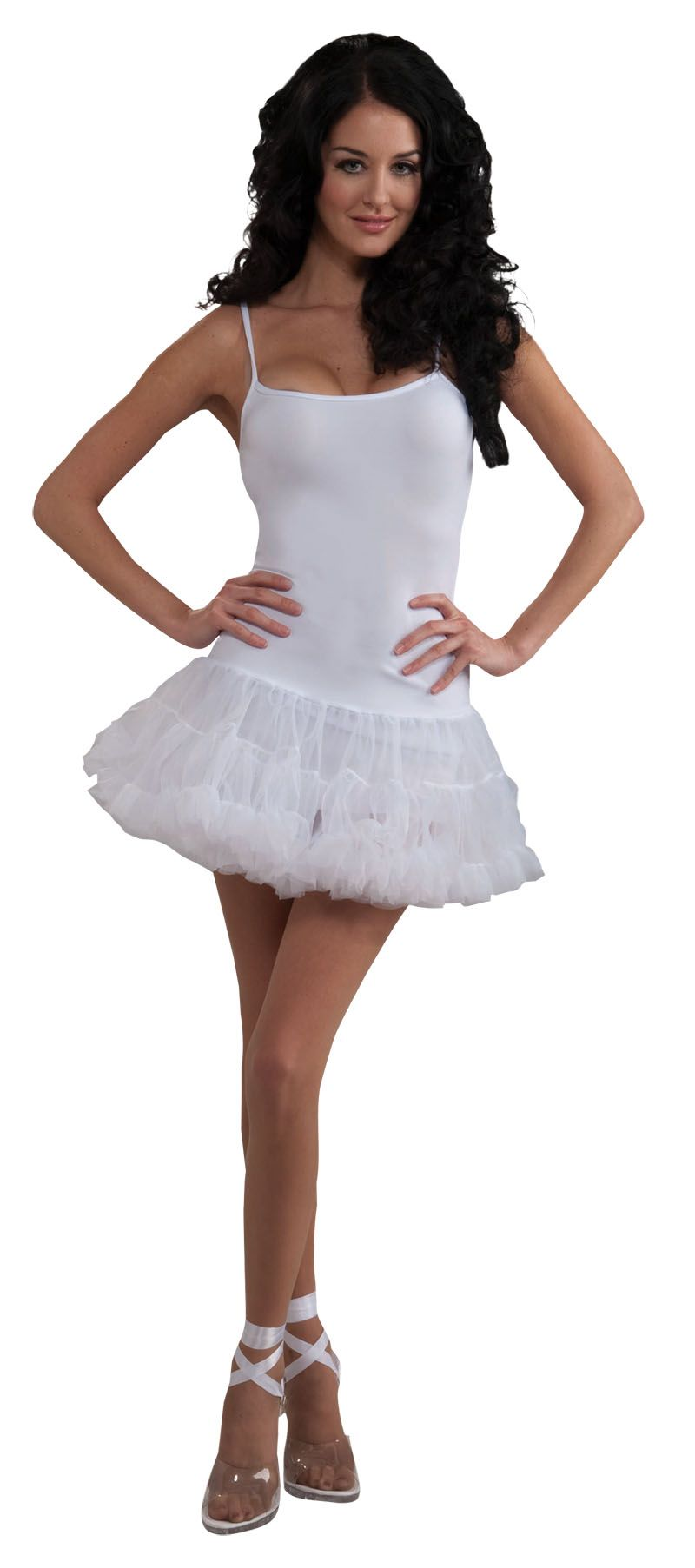 white petticoat dress a versatile fancy dress costume thats great to wear on its own - Halloween Petticoat
