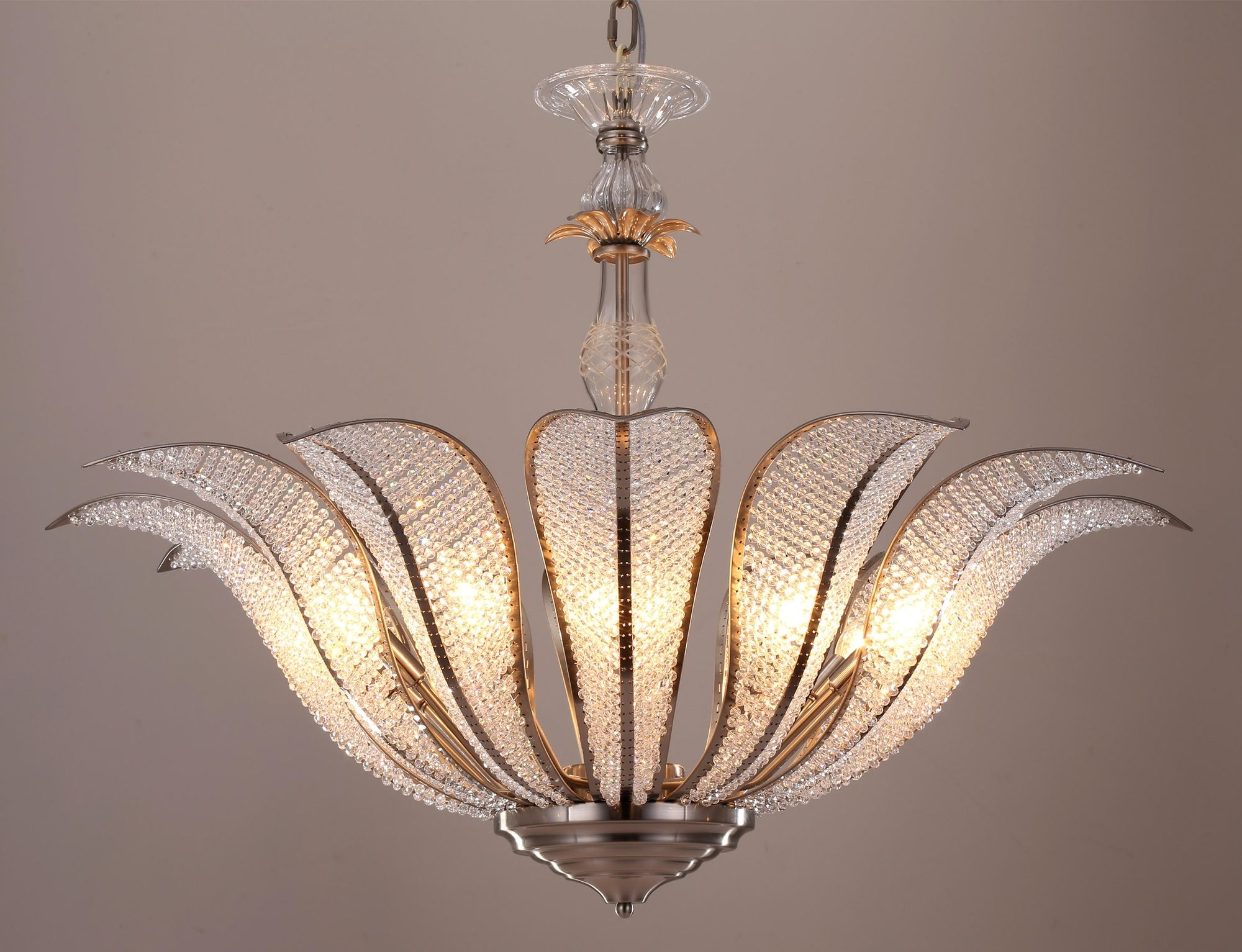 Search No Further Than The Glass Adorned Flower Chandelier Balances Vintage Style And Luxe Charm To Perfection