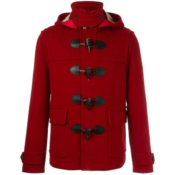 Burberry short duffle coat ($1,091) ❤ liked on Polyvore featuring men's fashion, men's clothing, men's outerwear, men's coats, red, mens short trench coat, mens red coat and burberry mens coat  URL : http://amzn.to/2nuvkL8 Discount Code : DNZ5275C