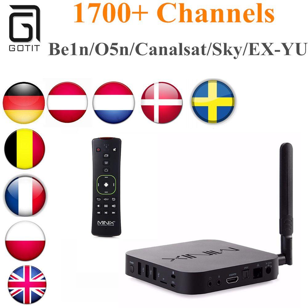Scandinavian IPTV MINIX NEO U1 Android 5 1A2 Lite TV Box with Royal