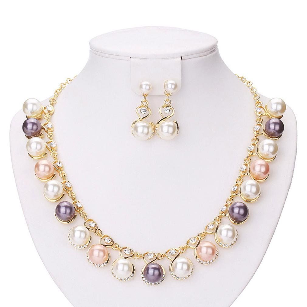 Susenstone fashion pearl necklace diamond earrings susenstone is a