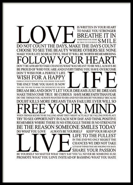 Free your mind manifesto, plakater i gruppen Plakater hos Desenio AB (8564)