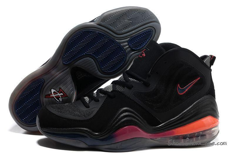 840f84ac1 Best Discount Price Nike Air Penny 5 Champs Black Orange Basketball Shoes