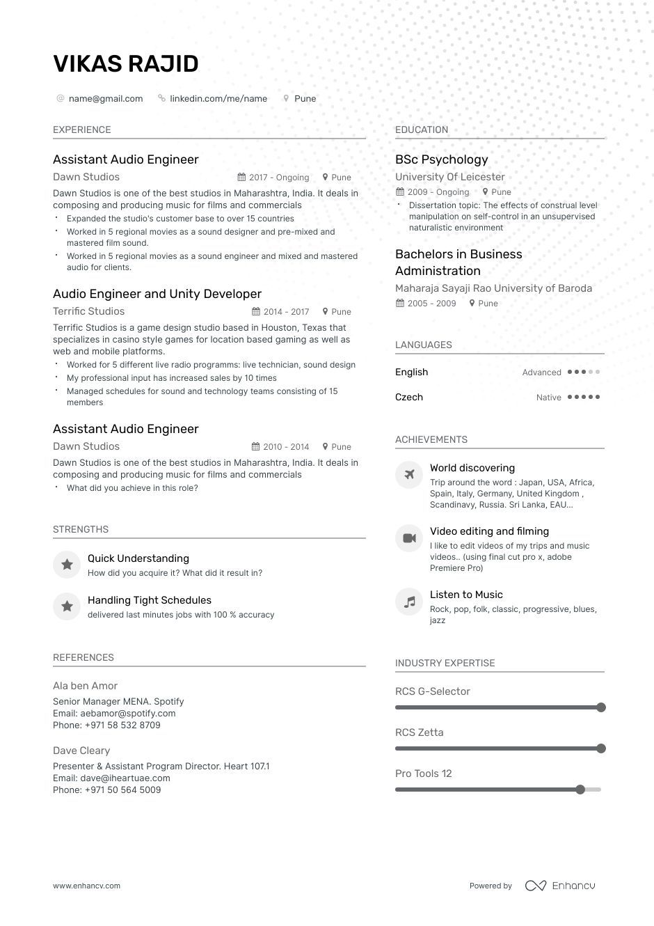 Audio Engineer Resume Step By Step Guide With Expert Advice 2019 Resume Examples Resume Cover Letter Examples Job Resume Examples