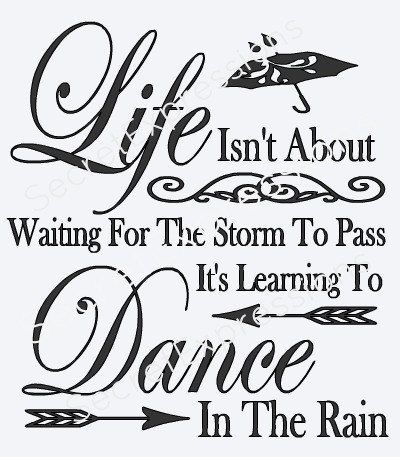Waiting For The Storm To Pass Learn To Dance In The Rain Svg Digital Svg File For Cricut Or