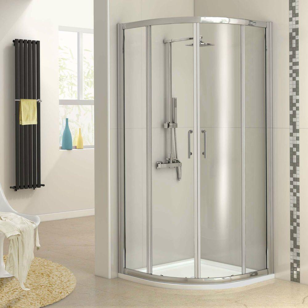 Quadrant Shower Enclosure Walk In Glass Corner Panel Bathroom Door