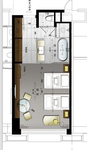Hotel plan all for plans pinterest parental suite for Plan chambre parentale