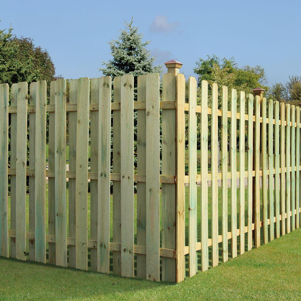 5 8 In X 5 1 2 In X 6 Ft Pressure Treated Pine Dog Ear Fence Picket 102560 Dog Ear Fence Wood Fence Post Fence