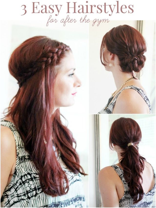 3 After Gym Hairstyles Pinterest Gym Hair Style And Makeup