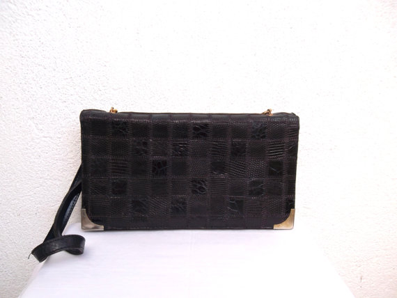 80s Disco Clutch Croco Print Envelope by BlastFromThePastBags, $38.00