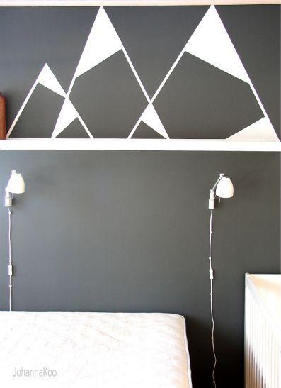grey wall + white mountains