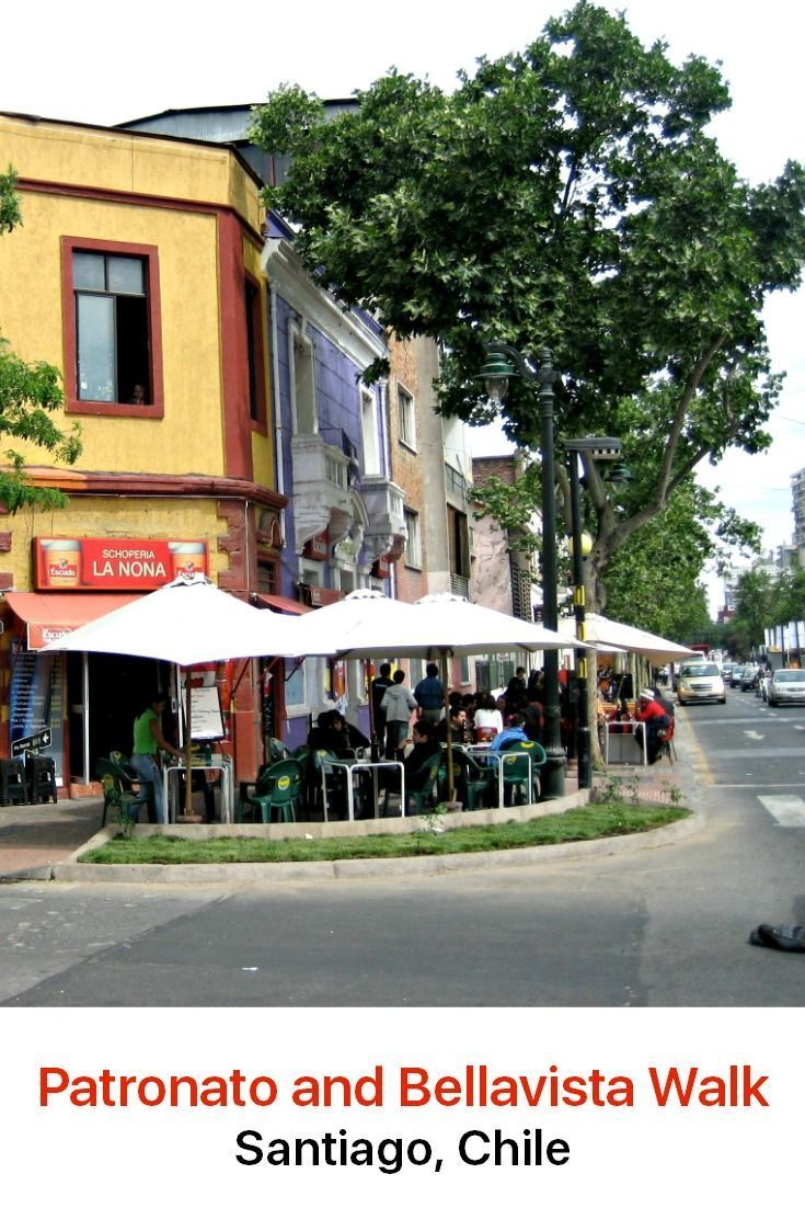 Shop, dine and enjoy the beautiful colors in the streets of two of the most picturesque and popular neighborhoods in Santiago, Chile.