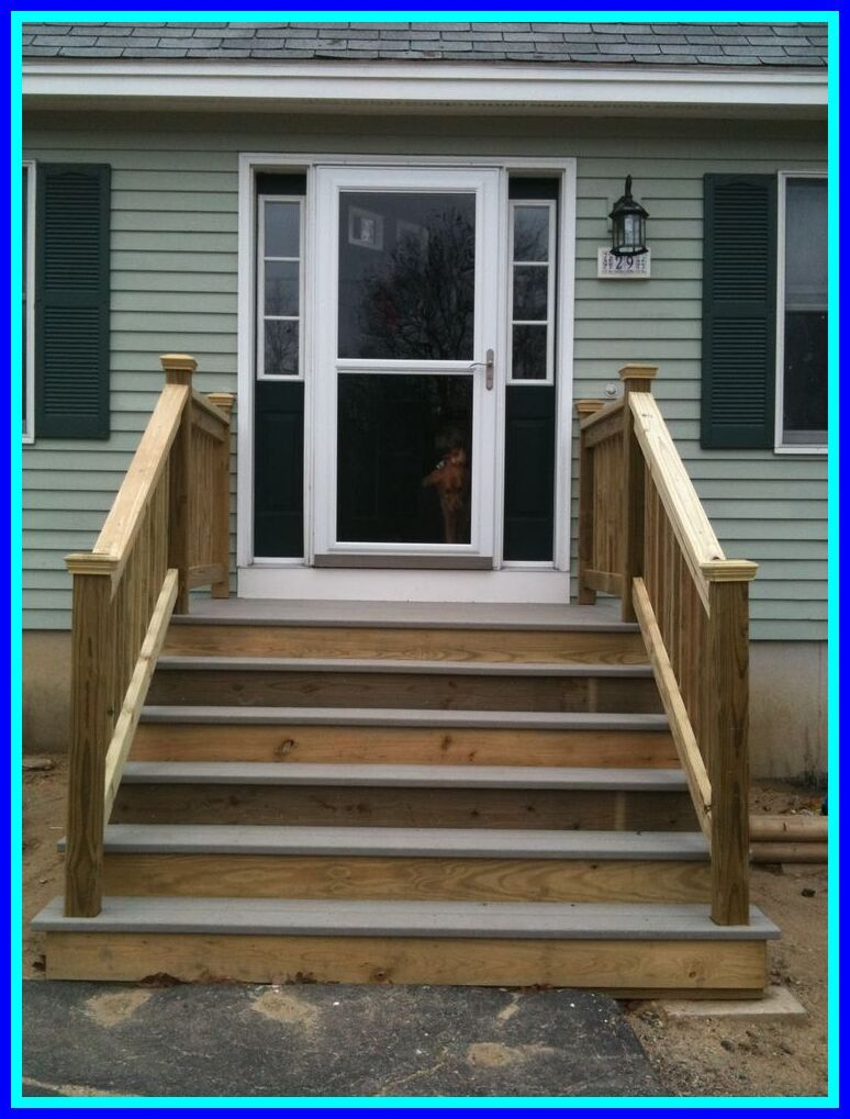 48 reference of wood front entrance steps in 2020 Porch