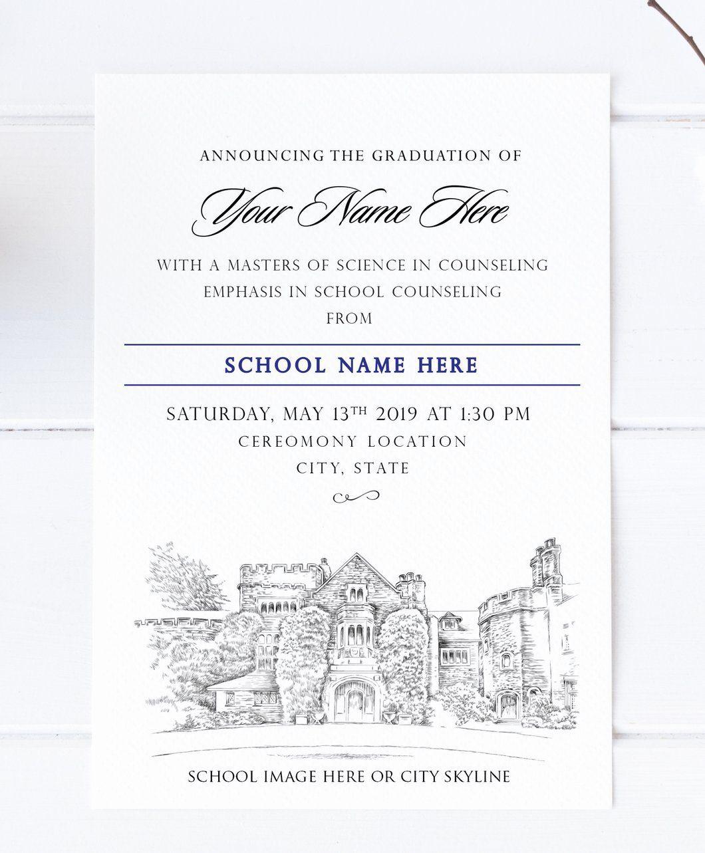 Name Cards For Graduation Announcements Inspirational Abilene Christian Univ Graduation Invitations Graduation Invitations High School Graduation Announcements