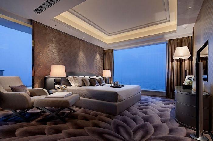 ideen moderne schlafzimmergestaltung lamellenwand   masion.notivity.co