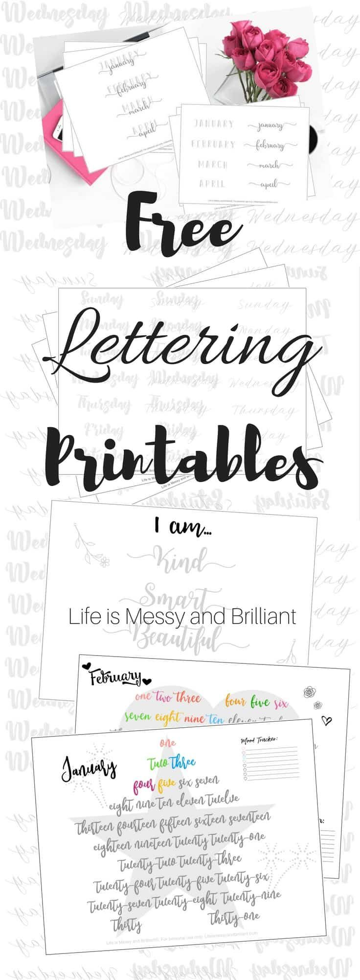 Free Hand Lettering Practice Worksheets Hand Lettering Hand